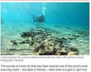 希腊海底发现5000年古城