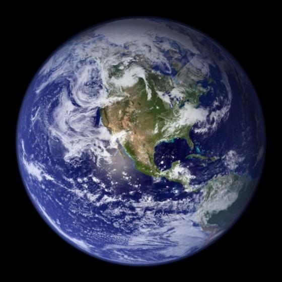 美NASA拍摄最清晰地球近照