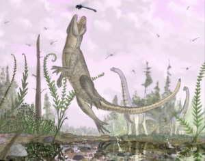 """一亿年前""""猫鳄鱼""""化石在东非发现"""