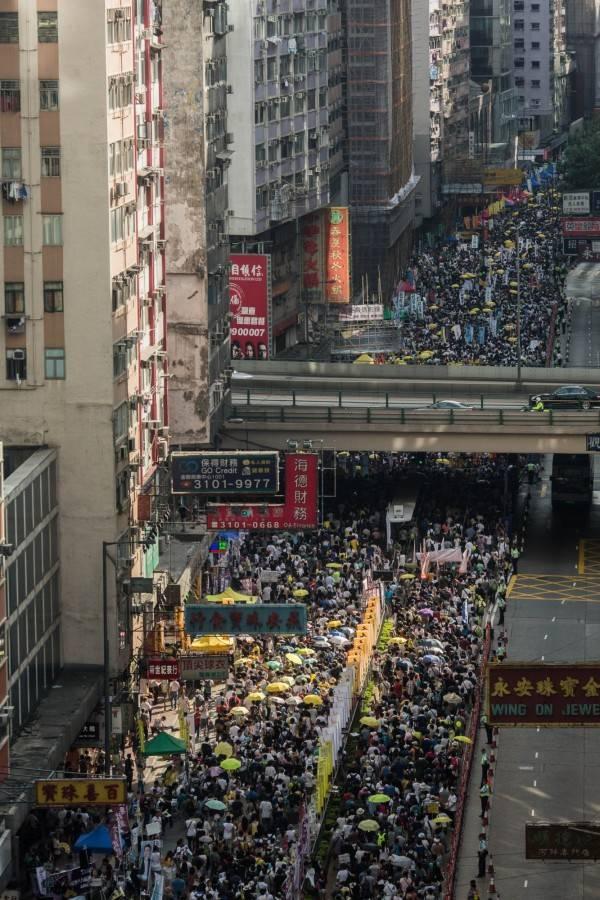 """七一香港大游行: """"建设民主香港,重夺我城未来"""""""