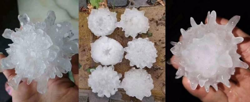 奇!北京端午节突降大冰雹  形状酷似冠状病毒(图)