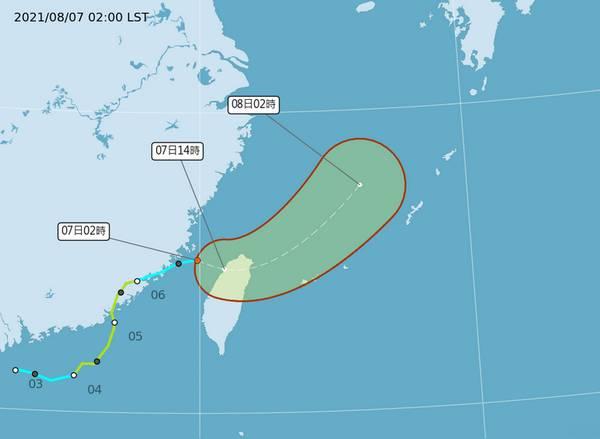 罕见!卢碧台风从中国大陆登陆后逆向回转到台湾
